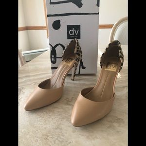 Dolce Vita Shoes - New in box, Dolce Vita Leather/Fur Heels Size 7M